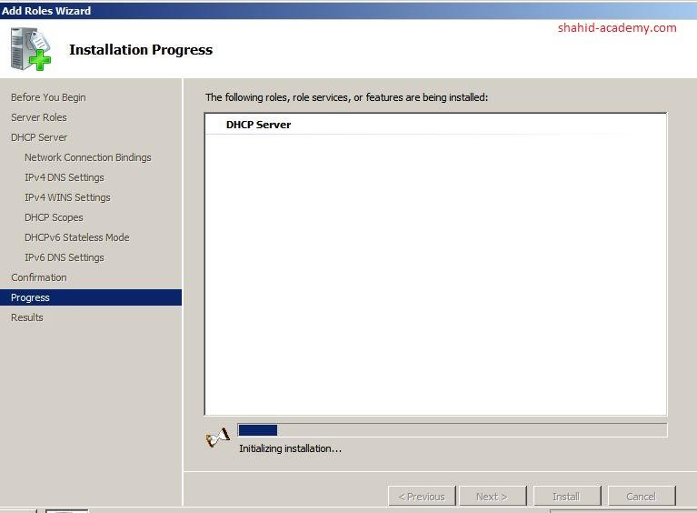 Install DHCP Server