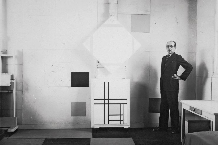 Image integrates 'Piet Mondrian: The Studios', a work that seeks to portray the intimate spaces of Mondrian, from Amsterdam to New York.