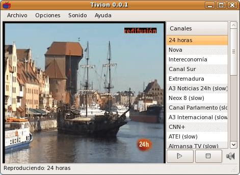 Interfaz Tivion 0.0.1