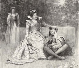 Twelfth night, Olivia - Miss Tita Brand, Feste, Clown - Mr. W. B. Field, [performed at the] Royal Botanical Gardens [graphic] / G. Grenville Manton. Folger Shakespeare Library.