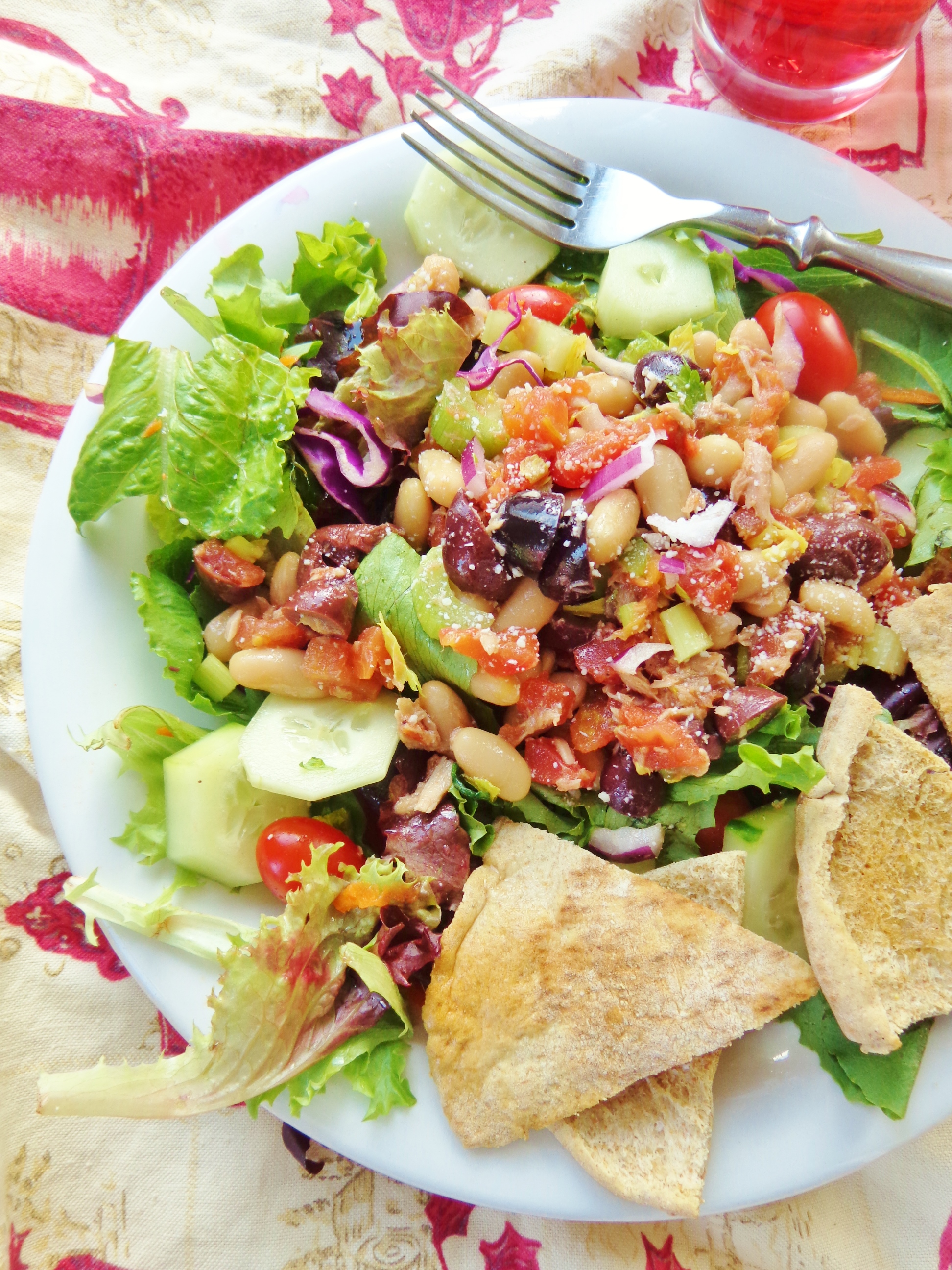 Cannellini bean and tuna salad on Shalavee.com
