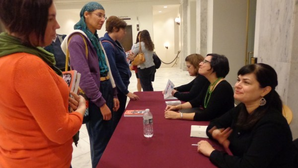 Book signing at Craftivism talk at the Smithsonian on Shalavee.com