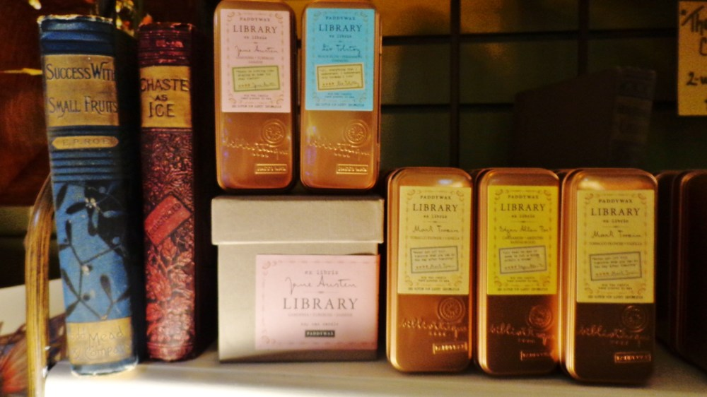 The library collection candles at Moonvine on Shalavee.com