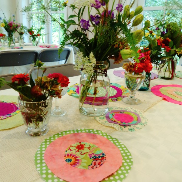 Wildflower and Suzani Circles Party Decorations