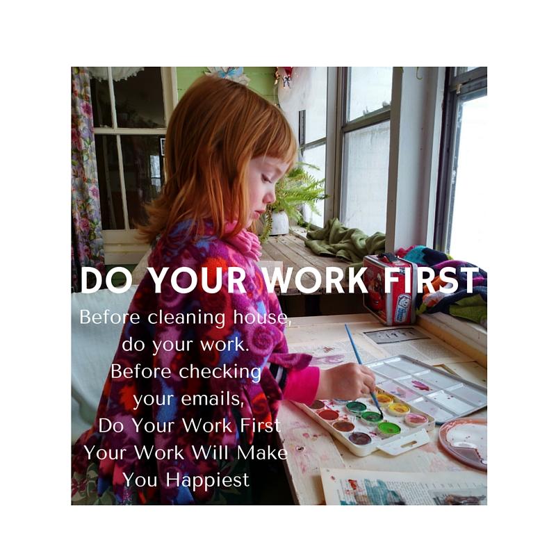 Do your work first on Shalavee.com