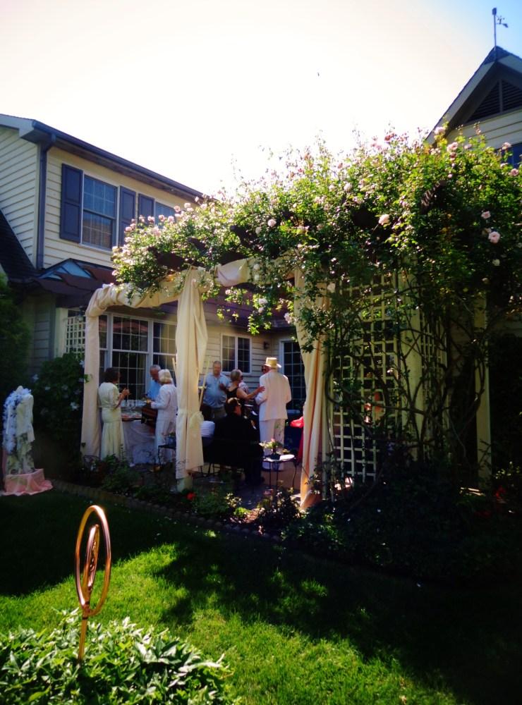 under the rose arbor on Shalavee.com