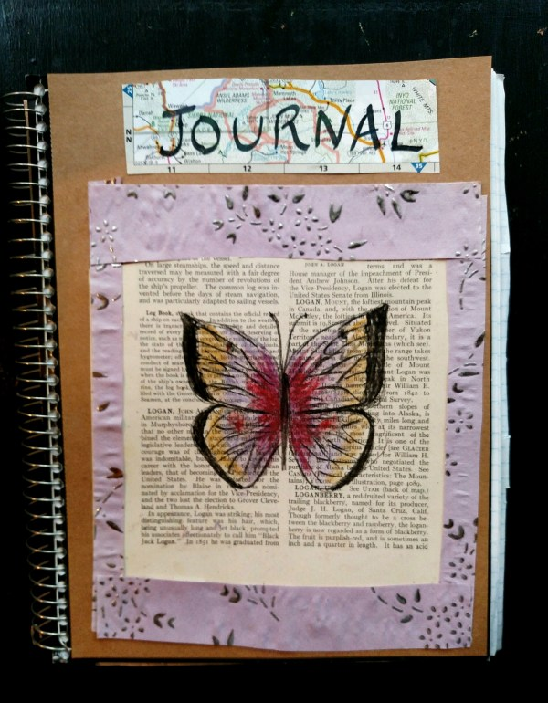 Butterfly journal cover on Shalavee.com