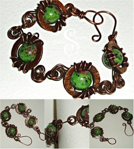 zoisite bead bracelet collage