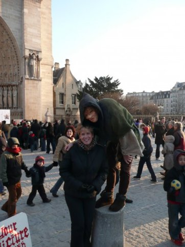 One of my many profile pics with weird people, in another country...