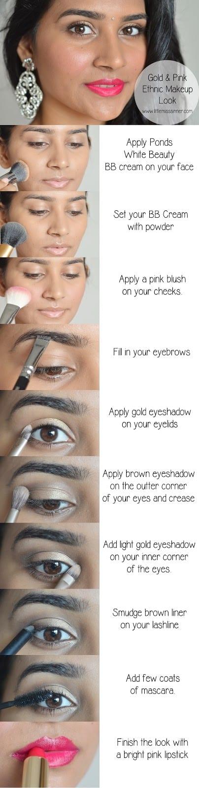 gold-pink-ethnic-makeup
