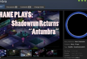 shane plays shadowrun returns antumbra