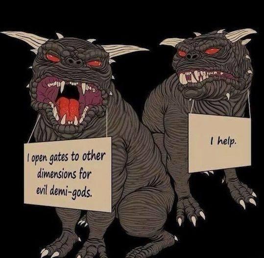 Ghostbusters dog shaming meme