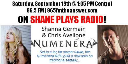 Shanna Germain & Chris Avellone talk Numenera on Shane Plays
