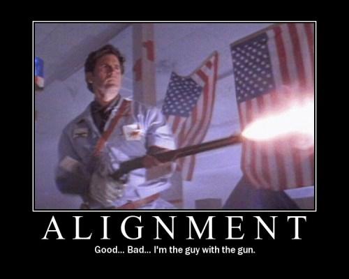 Bruce Campbell alignment meme