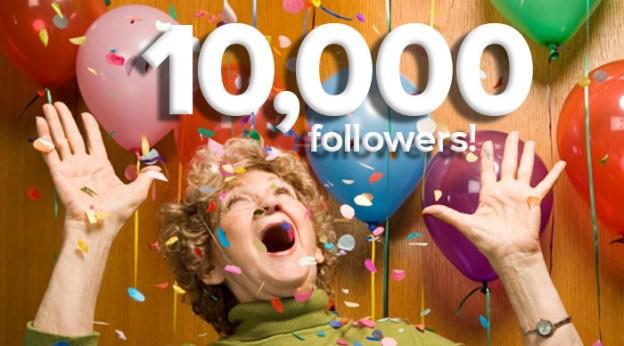 Celebrate 10000 followers woman balloons
