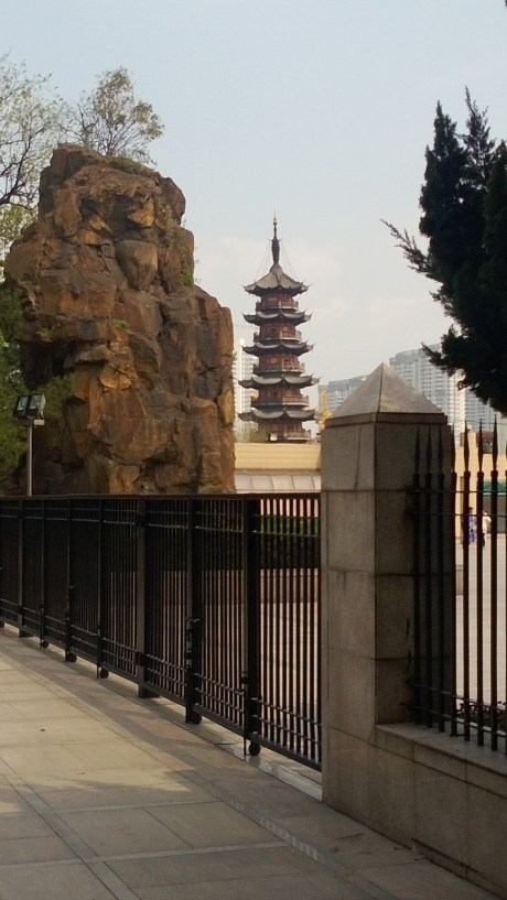 View of the Longhua Pagoda from the Revolutionary Martyr Cemetary next door