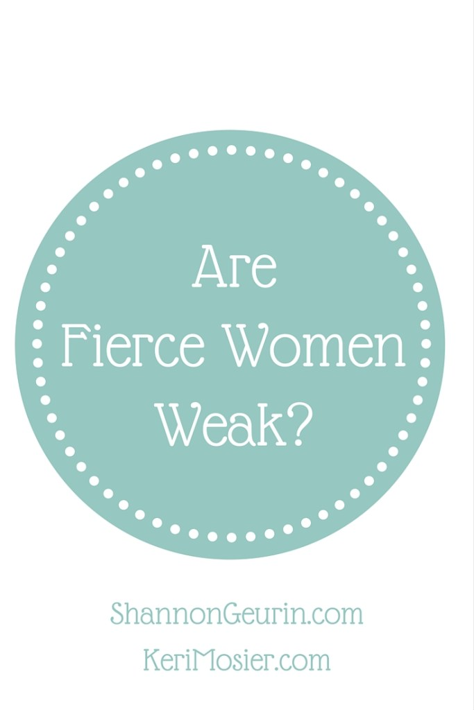 Are fierce women weak? Sweet sister, I don't know what weakness you face, but please know that when you are facing weakness, His grace and power is enough to make it perfect! By allowing Him to perfect what is weak, He is glorified and you are made fierce, for Him! So, I ask you, is a fierce woman weak? Absolutely. A weak woman, who gladly boast in her weakness, means she readily relies on God and trusts in His perfect power. That is a woman we should all strive to be!