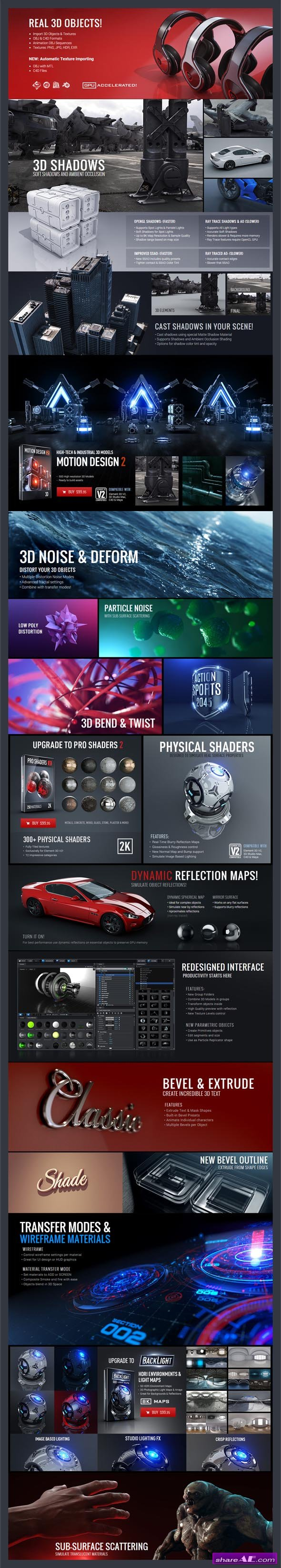 Pro Shaders 2 + BackLight + Motion Design 2 (WIN) - Video Copilot