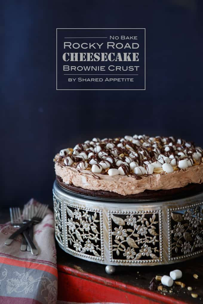 Paleo Rocky Road No-Bake Cheesecake