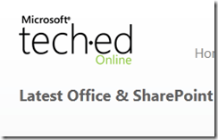 Office & SharePoint  Microsoft Tech·Ed - Windows Internet Explorer_2010-11-17_12-13-57