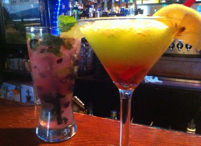 Blueberry Mojito and Martini