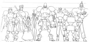 Modèle sheet Guardian Heroes
