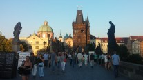 The view on Charles Bridge