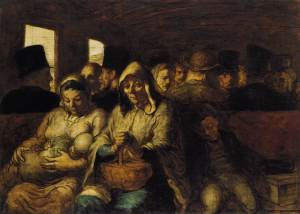 The Third-class Carriage by Honoré DAUMIER 1860-63