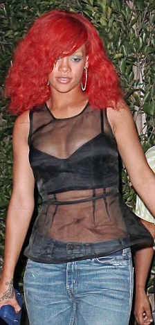 Rihanna and her red hair