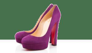 Bibi Louboutin purple suade