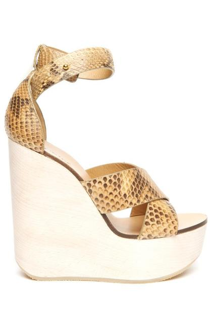 chloe gold wedges