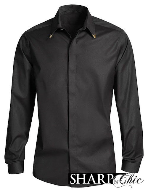 black tipped shirt