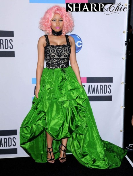 nicki minaj green dress