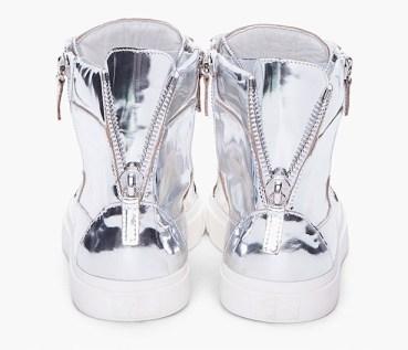 Giuseppe+Zanott silver mirror sneakers trainers