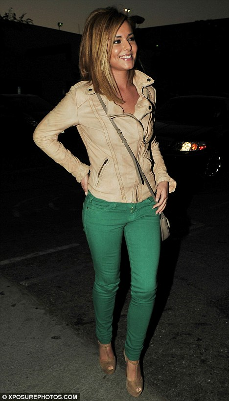 cherly cole in green jeans