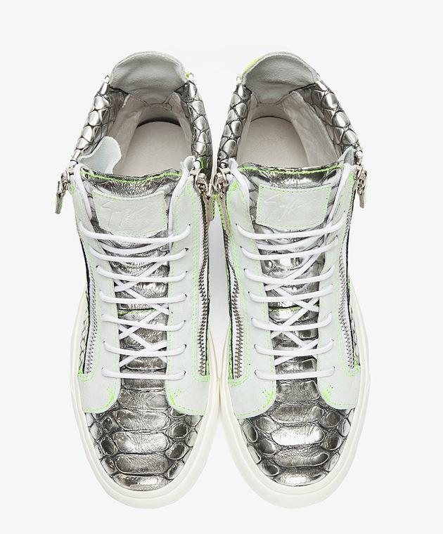 Silver giuseppe zanotti sneakers
