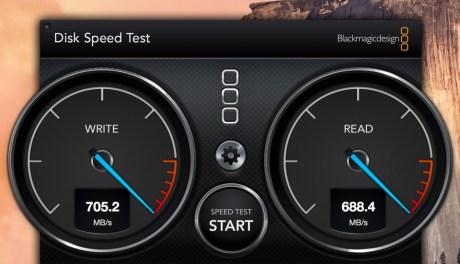 Disk Speed Test Retina iMac