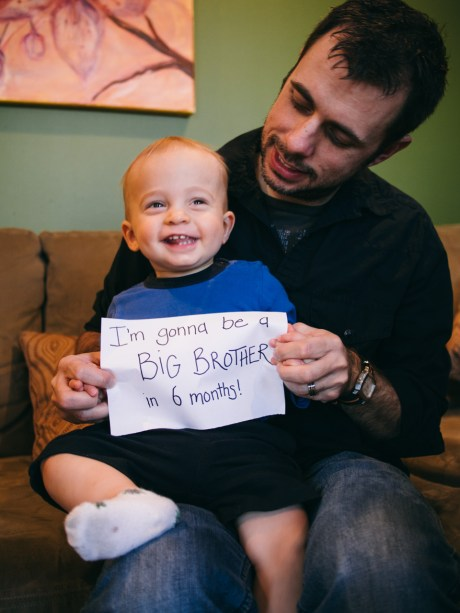 Noah is going to be a big brother