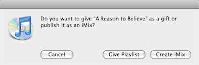 iTunes Gift a Playlist Option