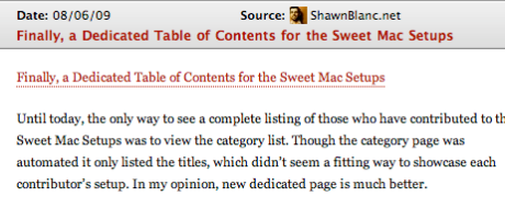 shawnblanc.net RSS Feed Item
