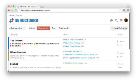 Discourse for the Focus Course Forum