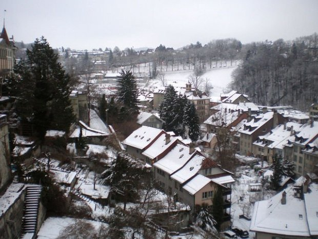 Bern Switzerland - Snowy Old City