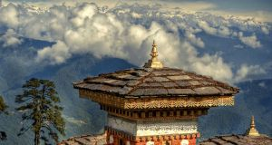 Challenges of Bhutan - Monastery in the high mountains