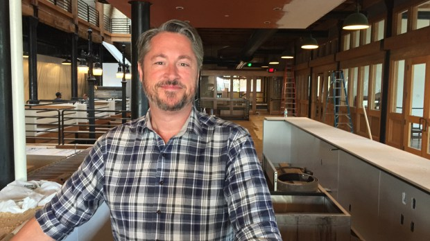 Chef Tim McKee photographed Sept. 5, 2017 at Market House Collaborative in St. Paul set to debut Oct. 10. (Nancy Ngo / Pioneer Press)