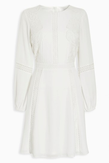Double Thumbs Dresses #80 | White Lace Panel Dress £65 from Next