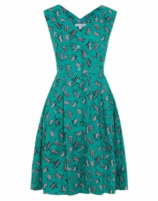 Double Thumbs Dresses #78 | Deckchair Print Dress £65 by Emily and Fin at Aspire Style