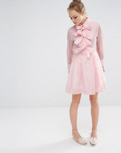She and Hem | Bow Front Shirt Dress £65.00 by Sister Jane at ASOS