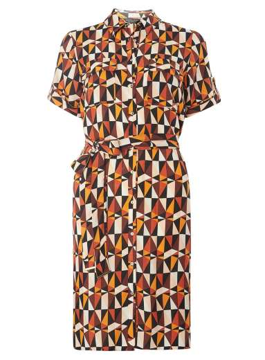 Double Thumbs Dresses #85 | Rust And Brown Triangle Shirt Dress £26.25 (Reduced from £35) from Dorothy Perkins