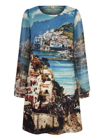 Double Thumbs Dresses #86 | Amalfi Coast Print Tunic Dress £15 (Reduced from £50) from Yumi