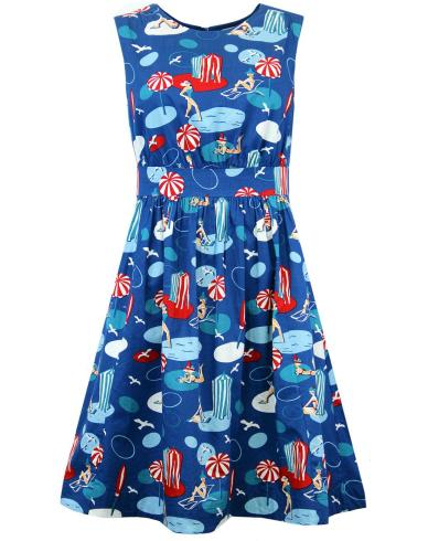 Double Thumbs Dresses #85 | Seaside print £32.50 (reduced from £65) by Emily and Fin at Aspire Style